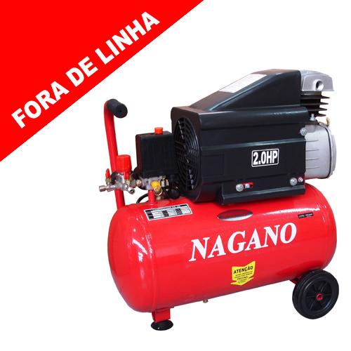 cb2eb5cd6e951 Nagano Máquinas - Compressor de Ar – 24 Litros – 2HP - (FORA DE LINHA)