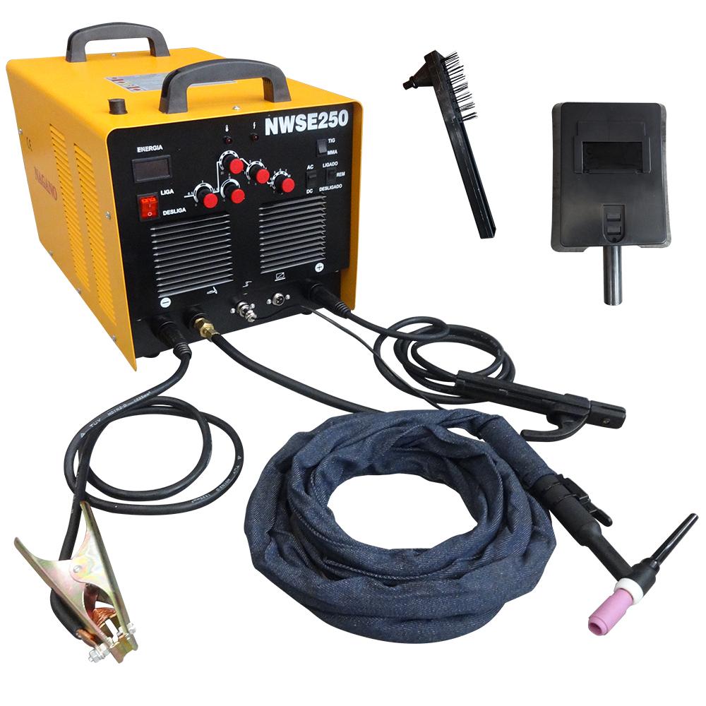 cd43b5e78982a Nagano Máquinas - Máquina de Solda TIG Inversora AC DC WSE 250 Ampéres -  Monofásico - 220 Volts - 60 Hertz