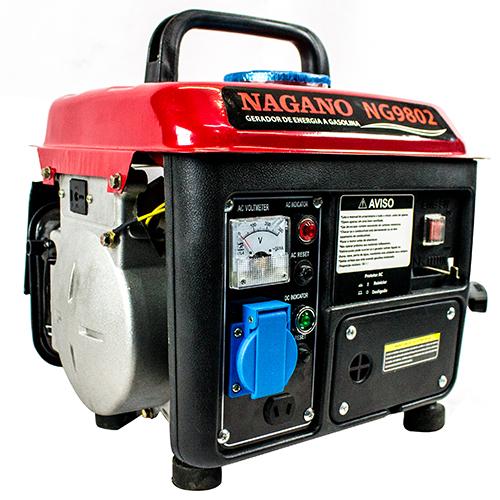 eb27f7b045f Nagano Máquinas - Gerador de energia a Gasolina Monofásico 0