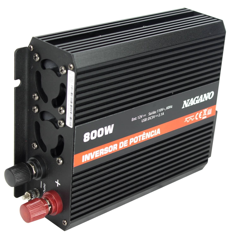 Nagano Máquinas - Inversor de Potência 800 W com Entrada USB 110 V - Onda  Modificada a0f3aa5b0e