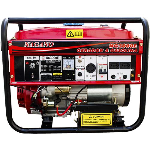 1a9e08f5d70 Nagano Máquinas - Gerador de energia a Gasolina 3 Kva Monofásico Partida  Elétrica - NG3000E (Fora de Linha)