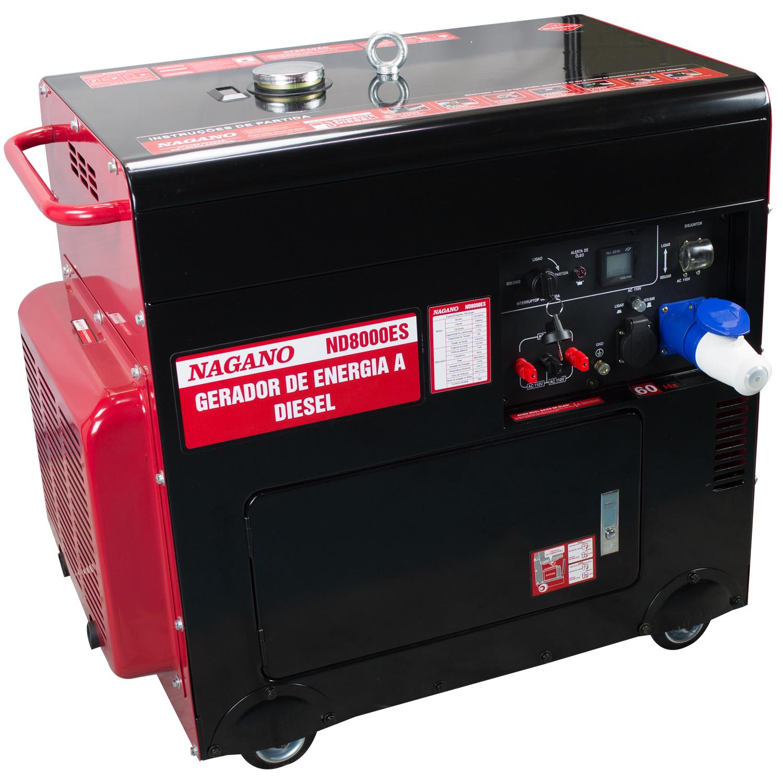 738 - Gerador a Diesel Monofásico 15kVA Partida Elétrica Silenciado 220v -  ND16STA 7af8bd4d1a