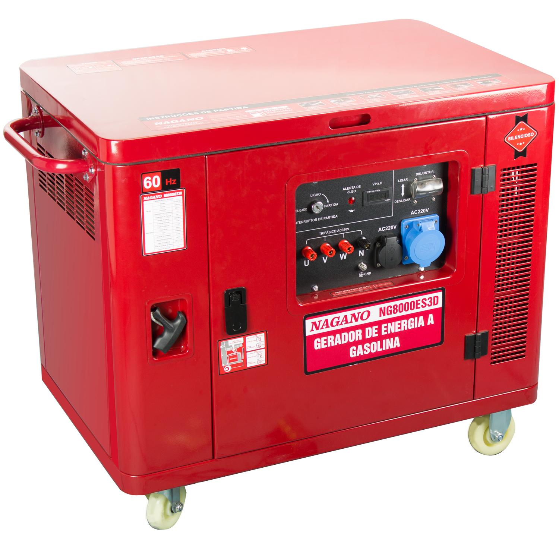 3f619e31f1c Nagano Máquinas - Gerador de Energia Silenciado Trifásico a Gasolina ...