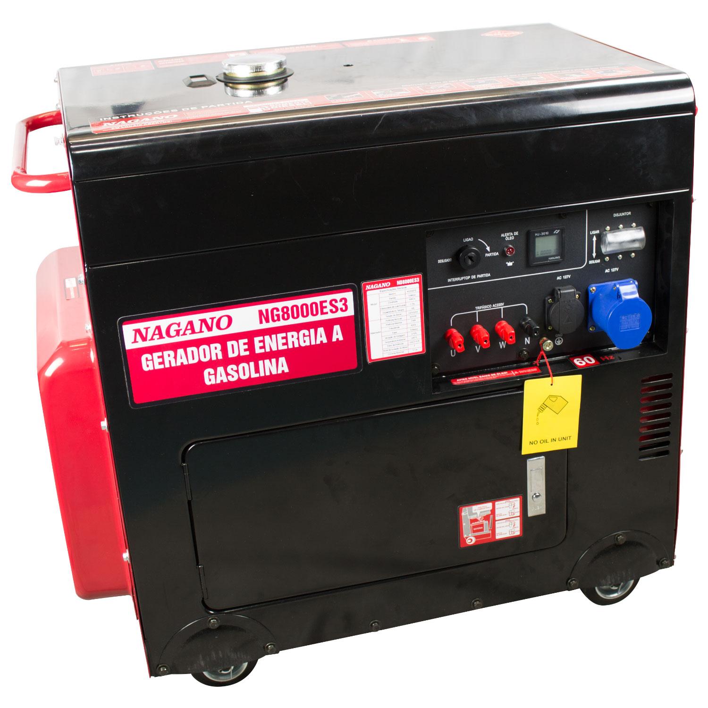 2ced2a59b94 759 - Gerador a Diesel Silenciado Monofásico 7 kVA 4T 60hz Partida Elétrica  110 220v